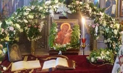 Η εορτή της Κοιμήσεως Παναγίας στους Αγίους Ισιδώρους