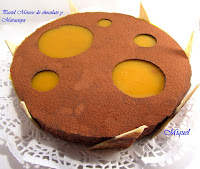 Pastel Mousse de chocolate y Maracuya