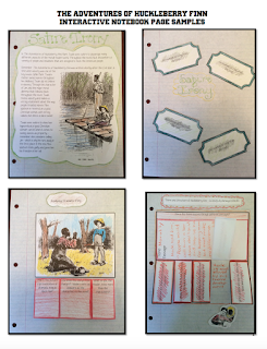 Chapin-Pinotti Huck Finn Interactive Notebook pages