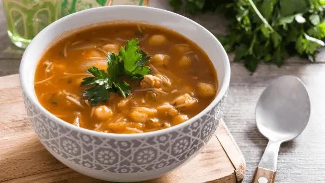 Moroccan Lentil Soup : Chickpea (Harira) Recipe