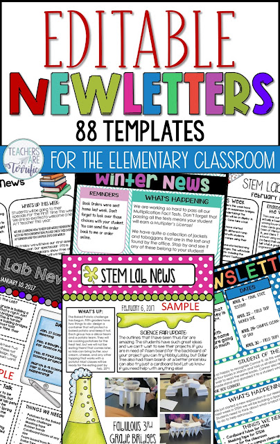 Fabulous resources and ideas to get you started back to school! This blog post will give you details about a Newsletter Template set that is editable! #teachersareterrific