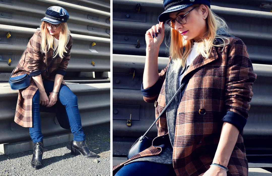 Karierter Mantel für Frauen von Karen Millen, Mode Herbst 2018