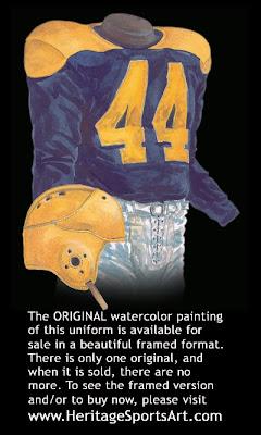Cleveland Rams 1940 uniform - St. Louis Rams 1940 uniform