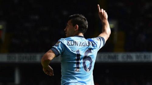 Aguero mang số áo 16 trong mùa giải đầu tiên tại Man City
