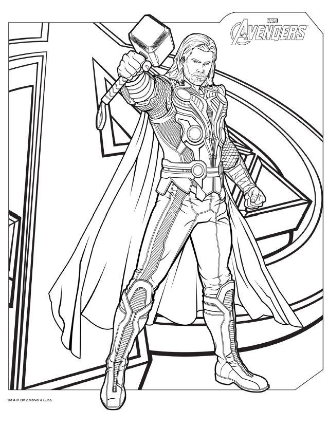 Desenhos Dos Vingadores Para Colorir Pintar Imprimir Avengers Free