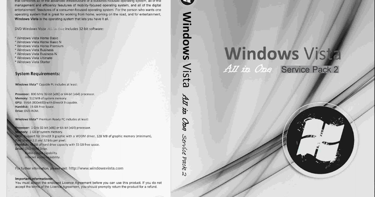 free windows vista service pack 2 32 bit iso