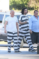 Daniel Craig and Adam Driver in Logan Lucky - #nascar