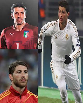 رونالدو أفضل لاعب فى أوروبا، بوفون أفضل حارس مرمى