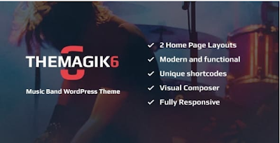 Download Free The Magic 6 v1.6 Plugin – Music Band & Musician Artist WordPress Theme