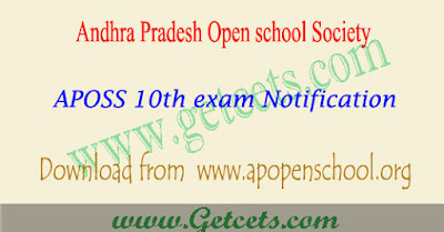 AP open 10th exam fee last date 2020, aposs ssc time table