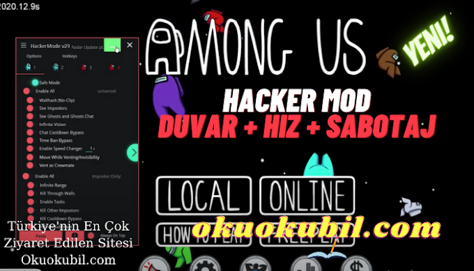 Among Us v29.0 Hacker Mod Duvar + Hız + Sabotaj Efsane Hileli İndir