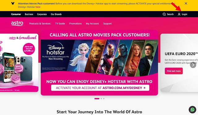 Cara Tambah (Add-On) Pek Astro Secara Online