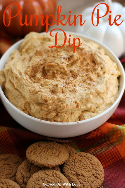 Pumpkin Pie Dip recipe from Served Up With Love is the perfect party appetizer for all the fall parties.