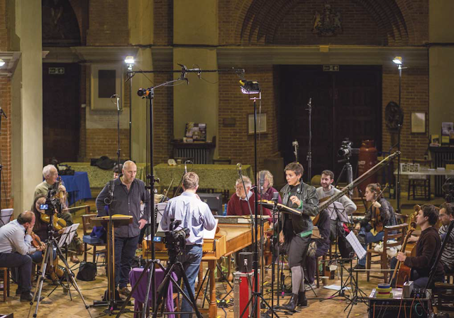 John Eccles: Semele - Richard Burkhard, Anna Dennis, Julian Perkins, Academy of Ancient Music - recording session 2019 (Photo Patrick Allen)