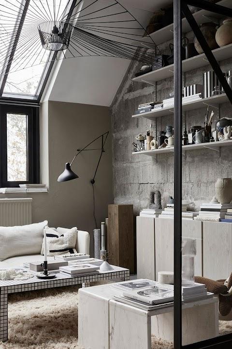 [Piccoli spazi] Una piccola casa studio in stile industriale scandinavo