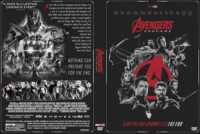 Avengers: Endgame DVD Cover