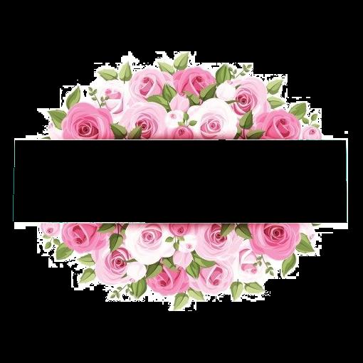Rose Pink Flower graphy, Pink watercolor flower borders, pink rose artworkj, watercolor Painting free png