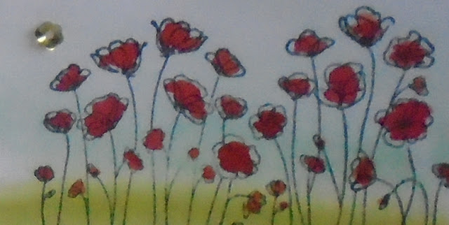 Craftyduckydoodah!, Painted Poppies, Susan Simpson UK Independent Stampin' Up! Demonstrator, Supplies available 24/7 from my online store, Water colour technique
