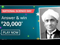 Amazon National Science Day Quiz Answers 24-Feb-2021