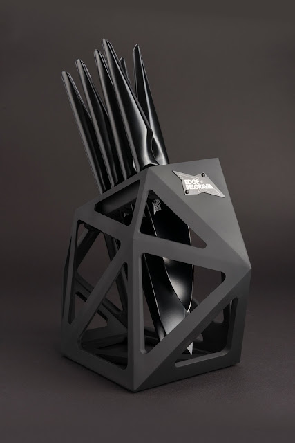 Edge of Belgravia Knives in Black Diamond Knife Block