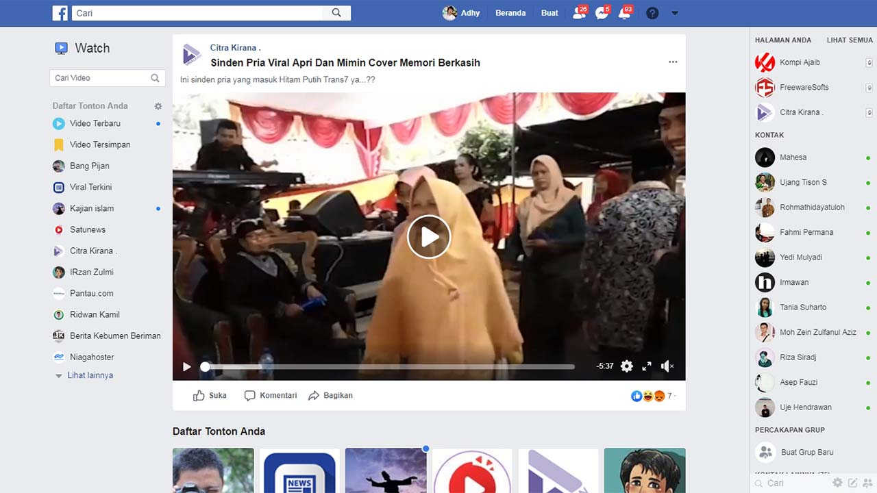 Responsive Facebook Video Embed Dengan Play Onclick Event