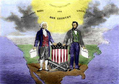 Presidents Day George Washington and Abraham Lincoln