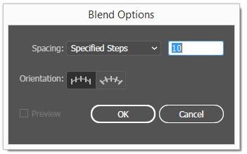Blend Tool in Adobe Illustrator