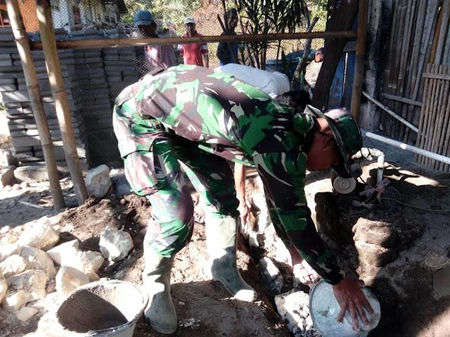 Semangat Yonzipur 4/TK Percepat Rehab RTLH Pada Program TMMD Reg 105 Kodim Klaten