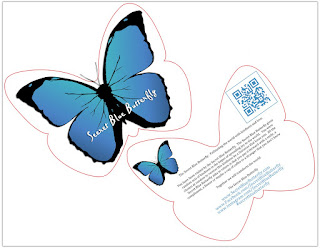 Secret Blue Butterfly Cards