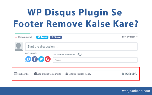 Wordpress-Disqus-Footer-Remove ya Hide Kaise Kare?