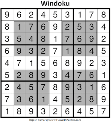 Answer of Windoku (Fun With Sudoku #366)