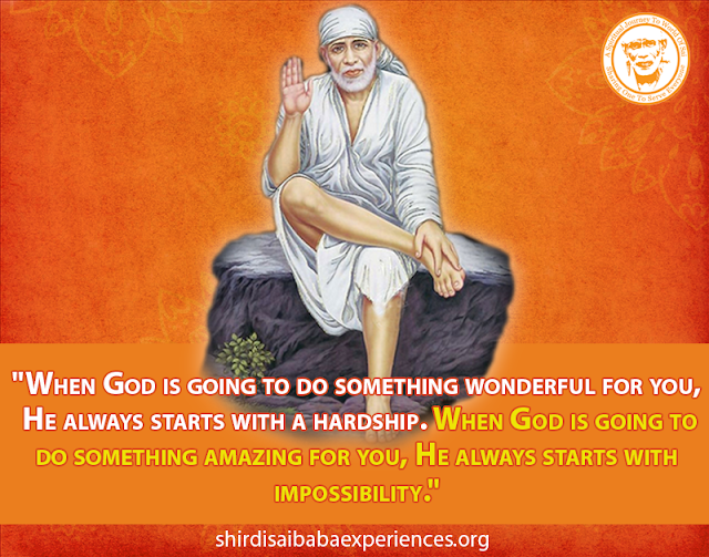 Baba, Give Internship To My Daughter - Anonymous Sai Devotee