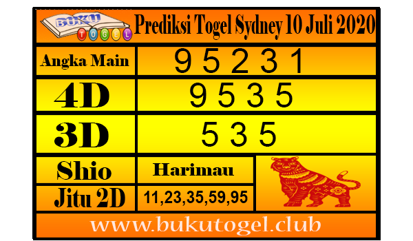Prediksi Syair Togel Sydney 10 Juli 2020