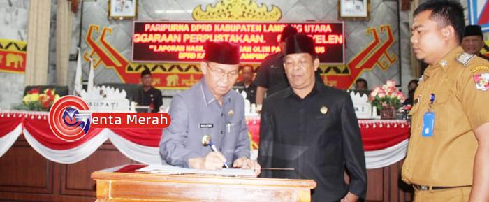 DPRD-Pemkab Lampura Bahas Akhir Raperda Usul Inisiatif Dewan