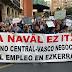 Cientos de manifestantes reclaman que los Gobiernos vasco y central salven La Naval