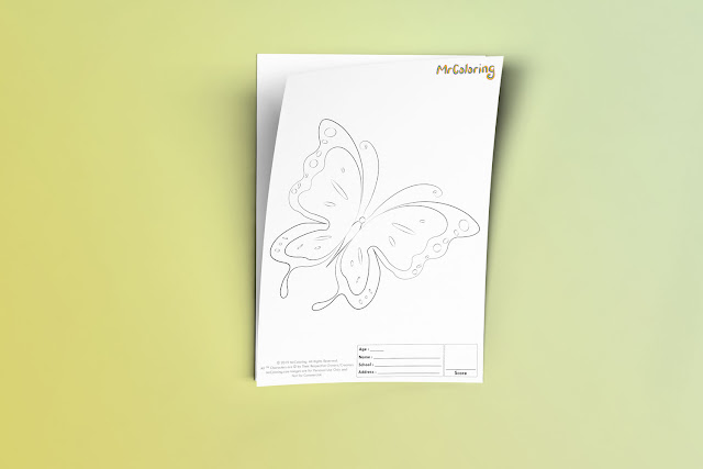 Free Printable Butterfly Template Coloriage Outline Blank Coloring Page pdf For Kids Pictures To Print Out Fun Colouring Pages Kindergarten Preschool Toddler sheet5