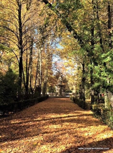 Jardines de Aranjuez en Otoño Madrid