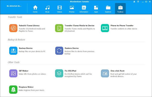 Screenshot Wondershare TunesGo 9.8.0.42 Full Version