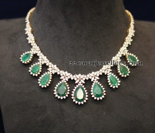 Diamond Necklace 18 Lakhs