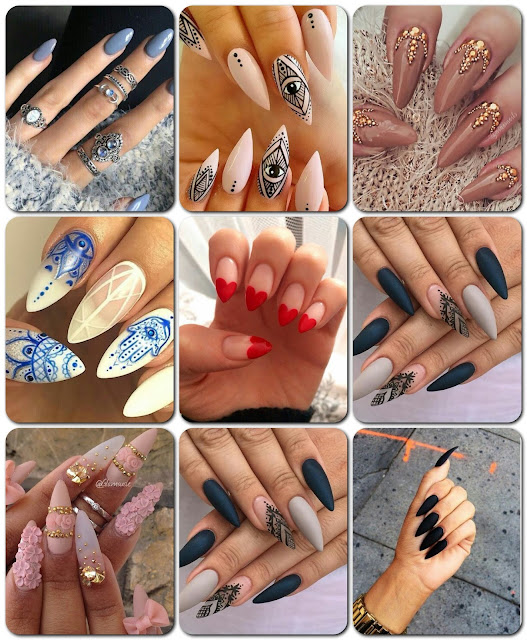 Nail Art: Unhas Stiletto