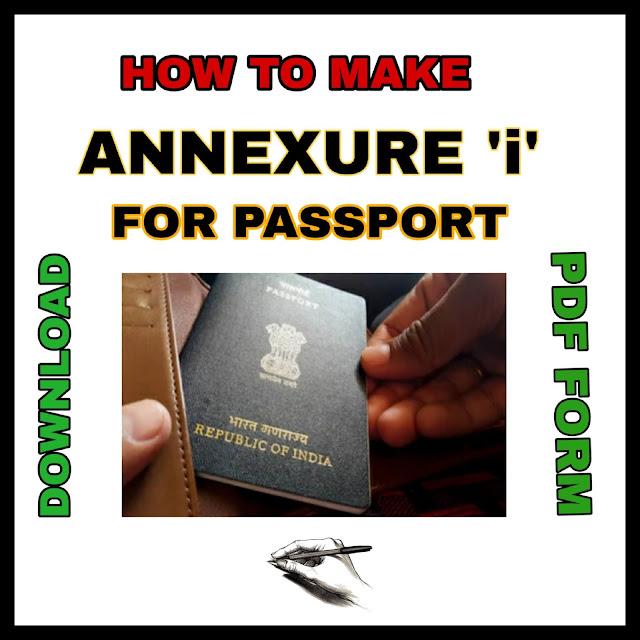Passport annexure i