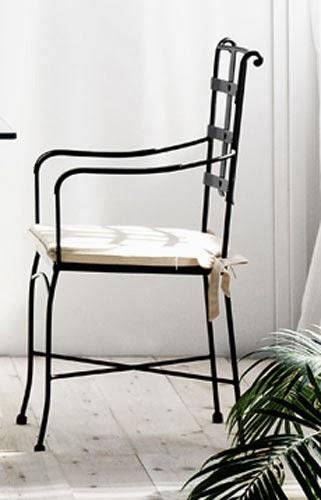 Sillon Forja rustico, sillon salon forja