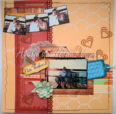 scrapbook nice weekend page maps