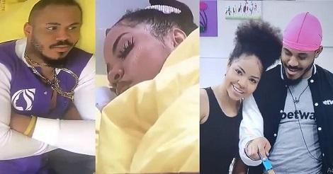 Ozo turns watchman, admires Nengi while sleeping [video]