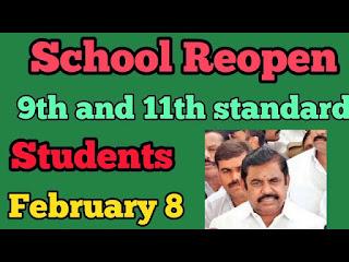 9th,11th Schools Reopen Feb-08