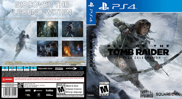 Capa Rise Of The Tomb Raider 20 Year Celebration PS4