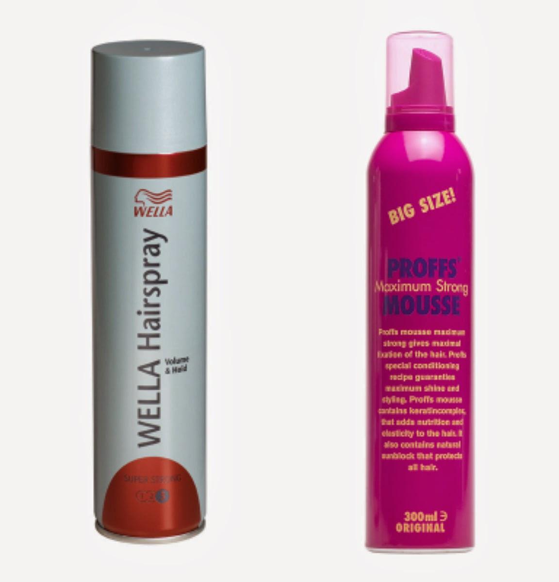 Köpte hår mousse och hår spray i helgen btw. Sprang in på kicks och köpte  något enkelt så det blev wellas hairspray och Proffs mousse. 34d043e4de