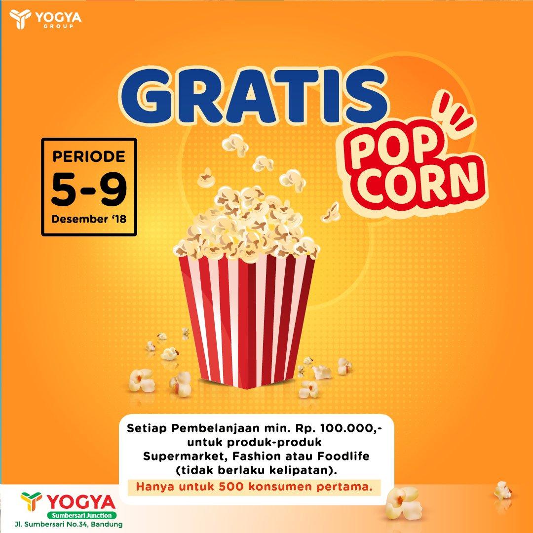 Yogya - Promo Gratis PopCorn di Opening Sumbersari Junction (s.d 9 Des 2018)