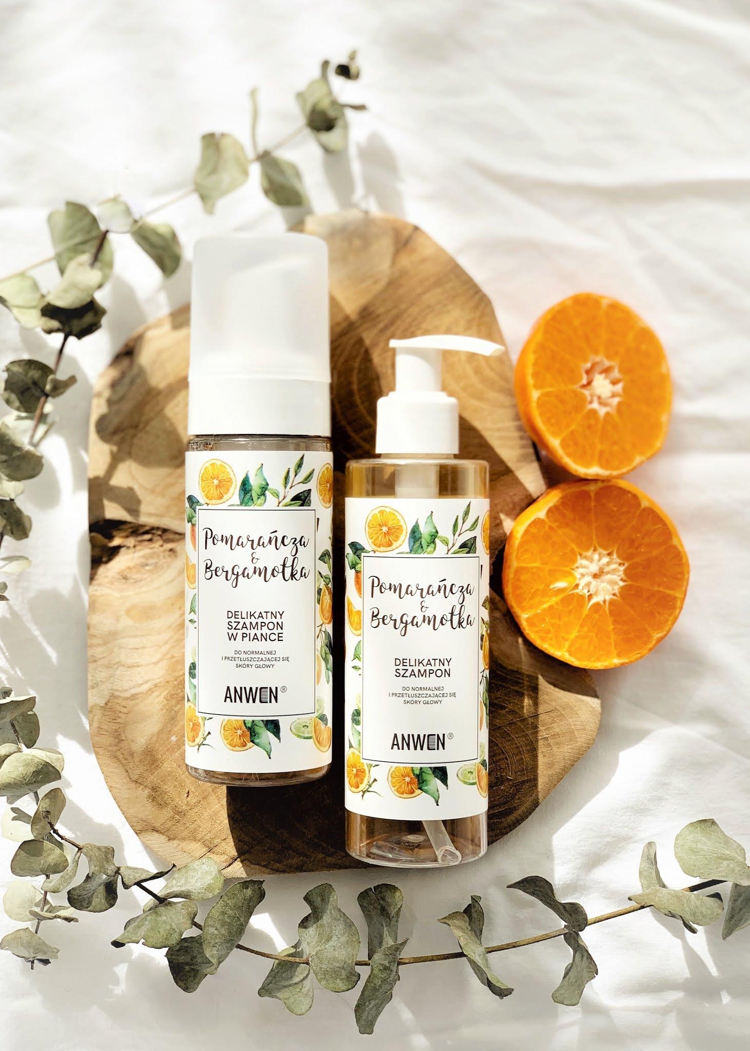 Szampon pomarańcza i bergamotka do normalnej i przetłuszczającej się skóry głowy Anwen