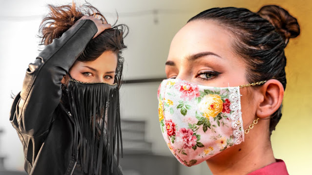 Very Nice Washable Fabric Fashion Face Masks to go out in Style